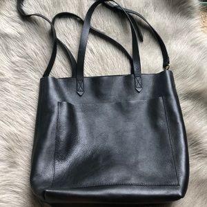 Madewell Black Medium Transport Tote Bag